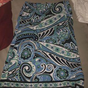 100% polyester work skirt